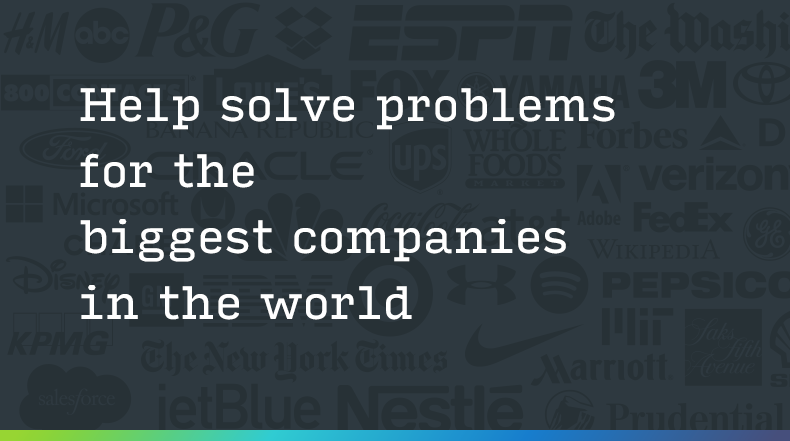 Help Solve Problems for the Biggest Companies in the World