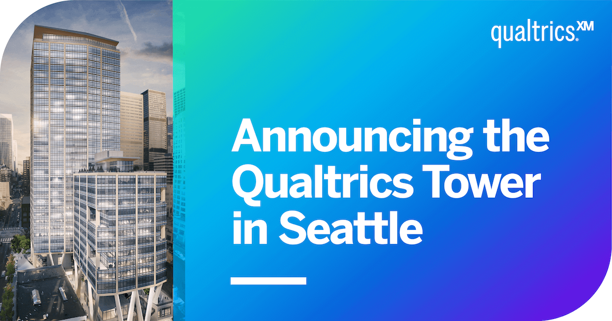 Qualtrics Announces New Downtown Seattle Building Named Qualtrics Tower and Will Create over 1,500 New Jobs in the Region