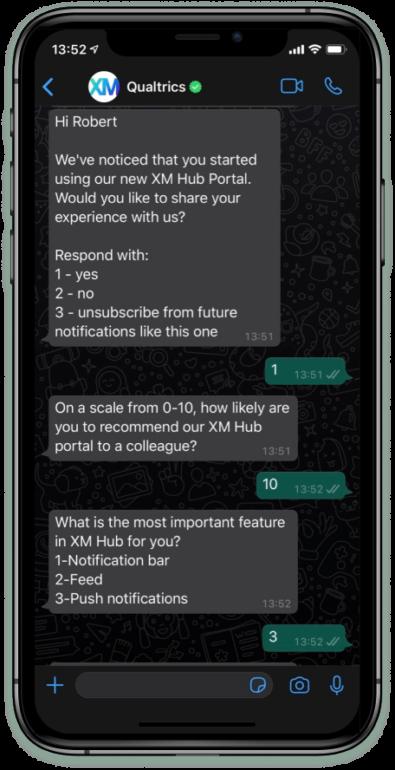 interactive whatsapp survey
