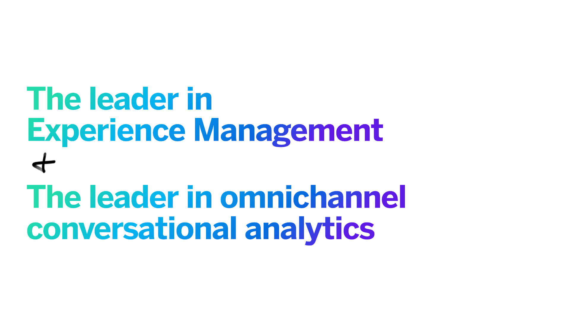 Qualtrics & Clarabridge - The leader in XM and omnichannel conversational analytics