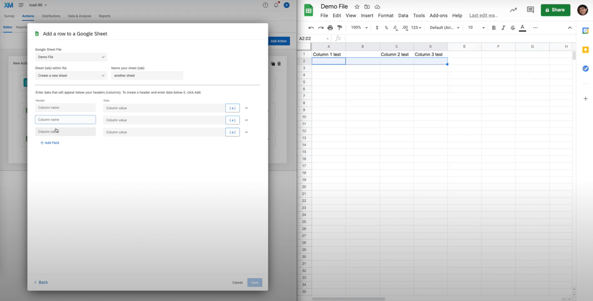 How the Google Workspace Integrations functions with Qualtrics