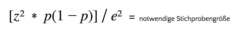 Formel für sehr große oder unbekannte Populationen