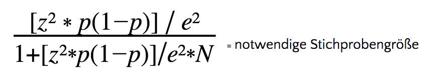 Stichprobe unkompliziert berechnen