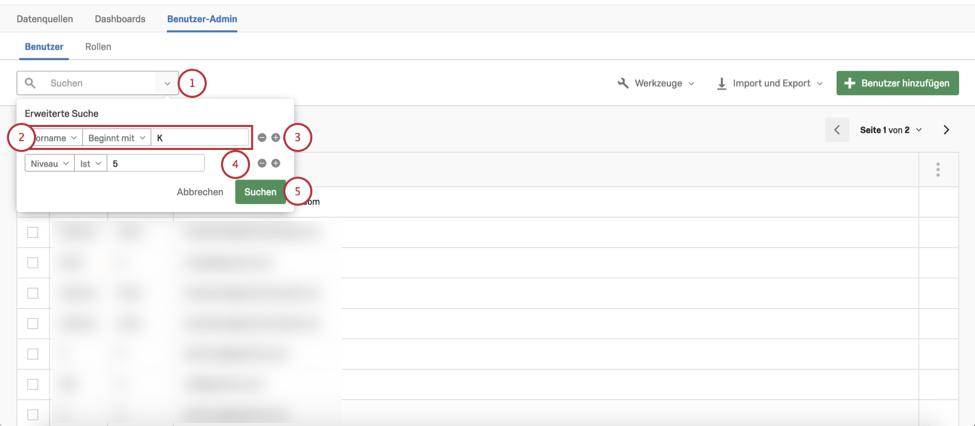 Verwalten von Dashboard-Benutzern (CX) image 3