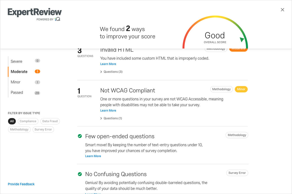 Expert Review - ExpertReview by Qualtrics