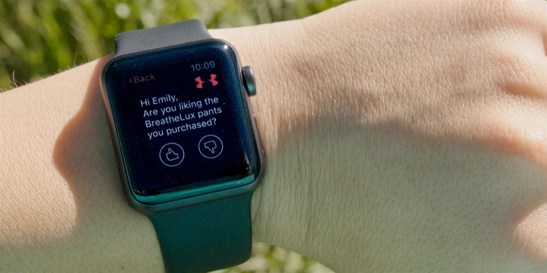 Apple Watch app asks user for feedback