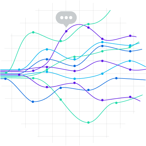 Streams of text data