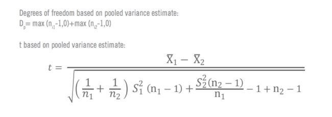 Formules pour le calcul manuel du test T 4