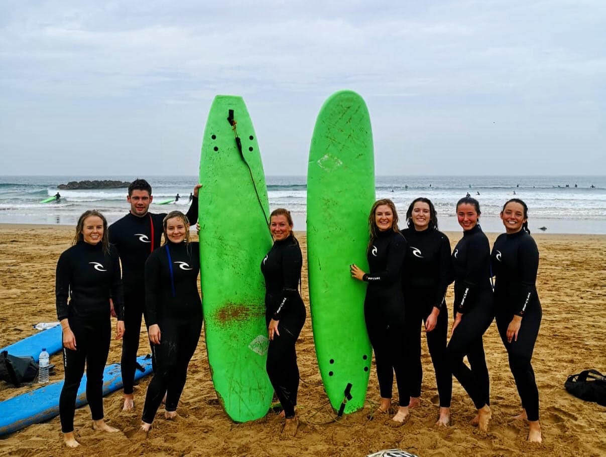 The Dublin Clubs & Socs group on their surfing trip in Morocco
