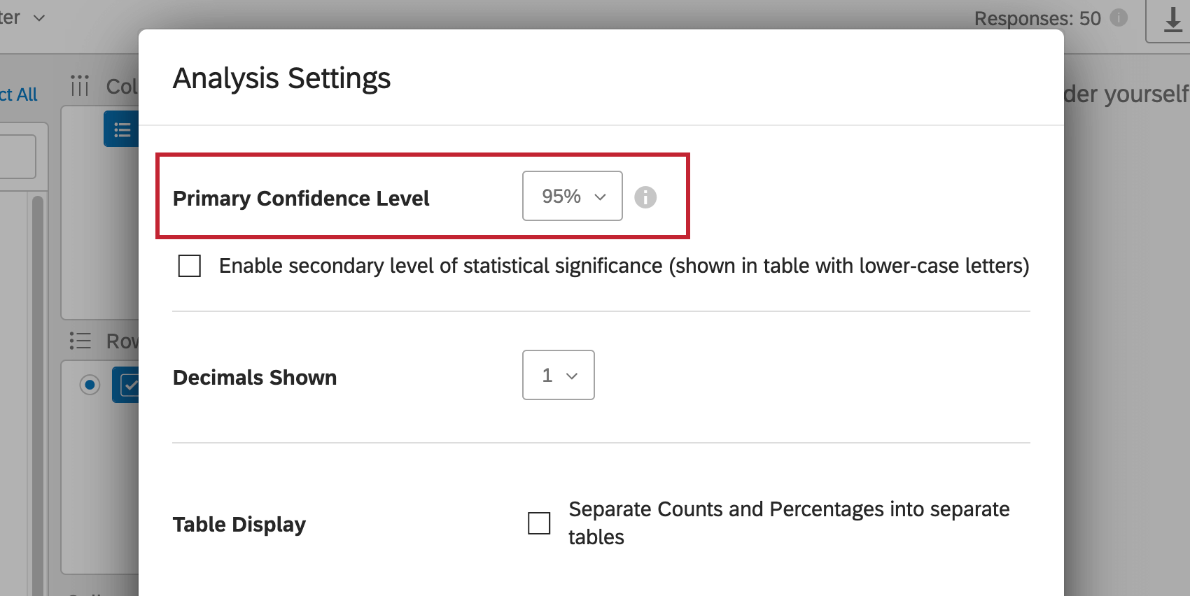 Primary confidence is highlighted