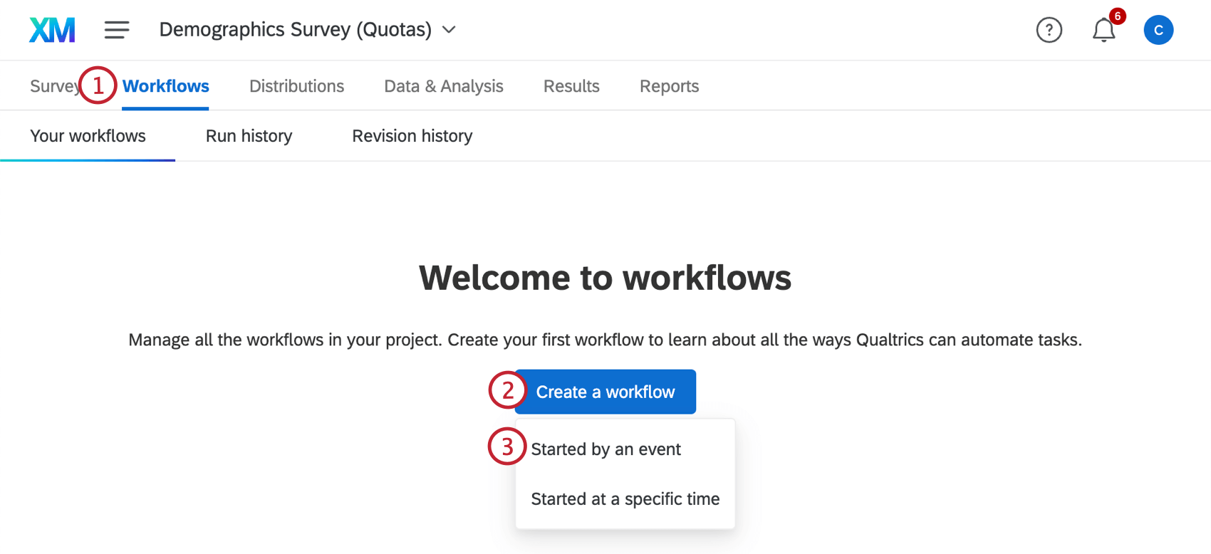 creating a new event based workflow