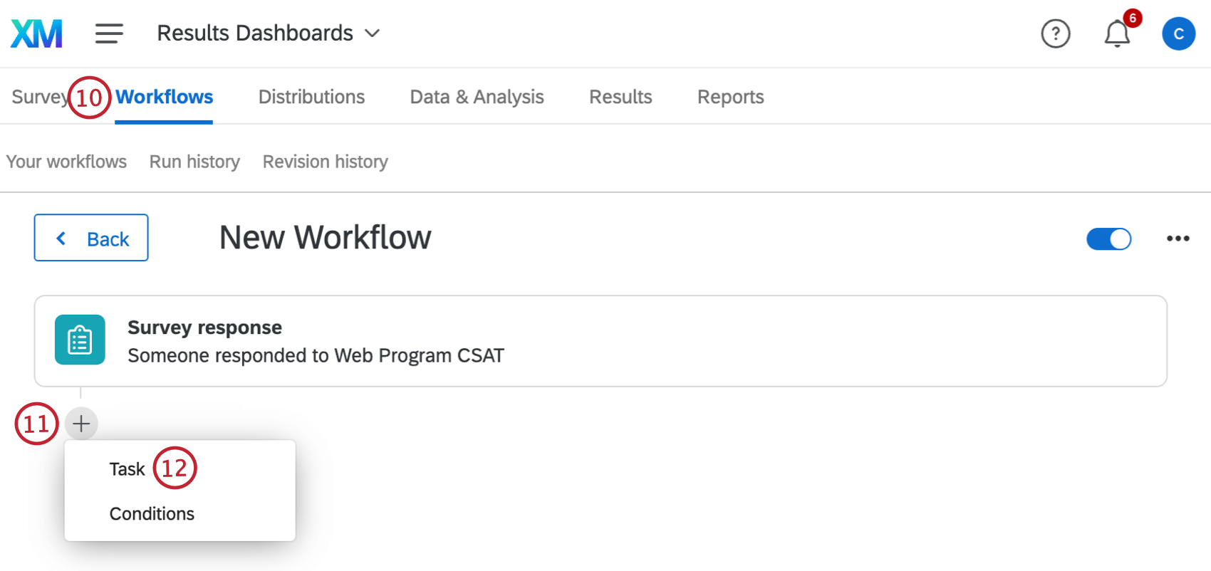 adding a task to a workflow