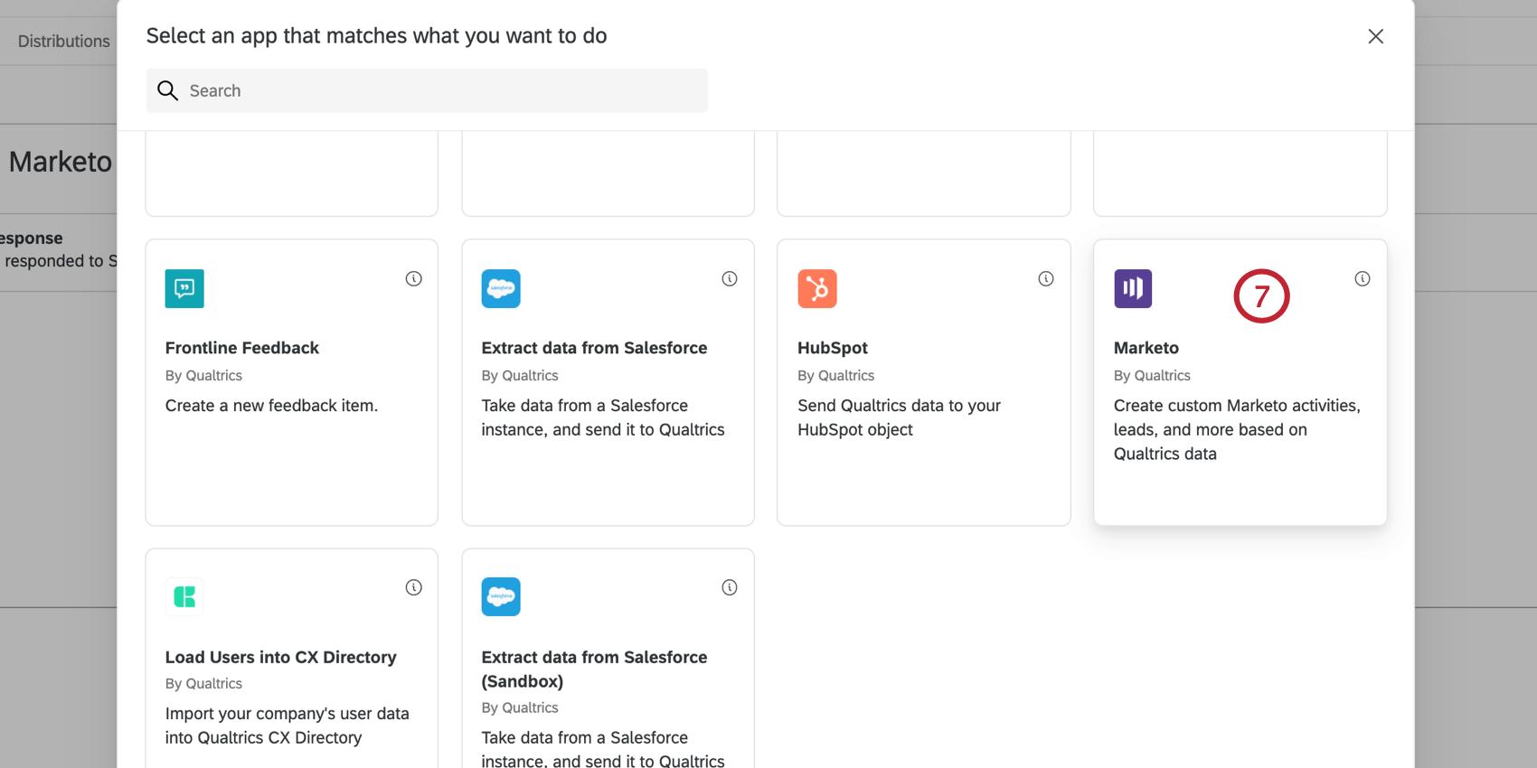 selecting the marketo task in the task window