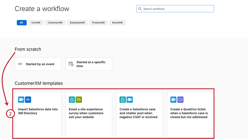 choosing a workflow template to use