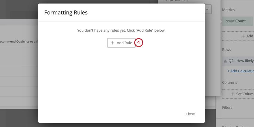 image of the add rule button in the formatting rules window