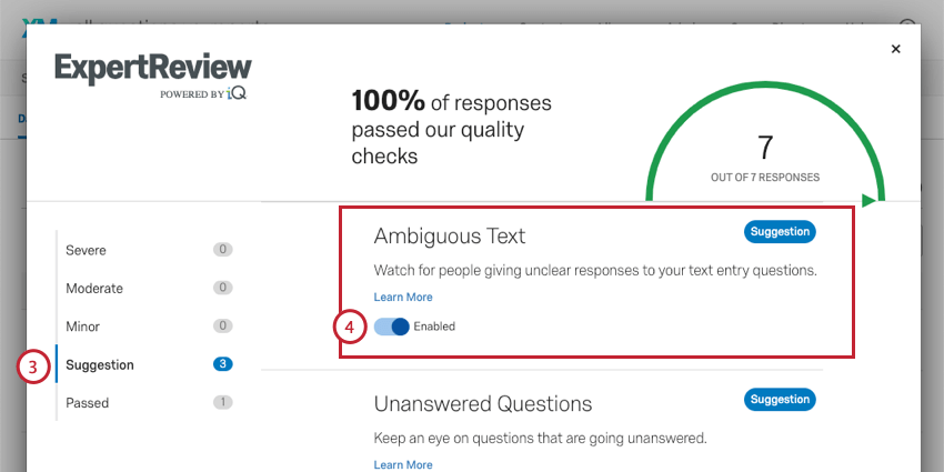 Enabling ambiguous text