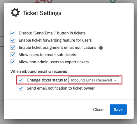 "image of the ""change ticket status to"" option"
