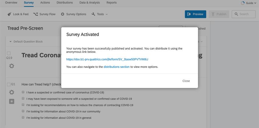 Survey published window