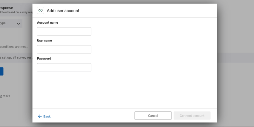 image of the add user account screen