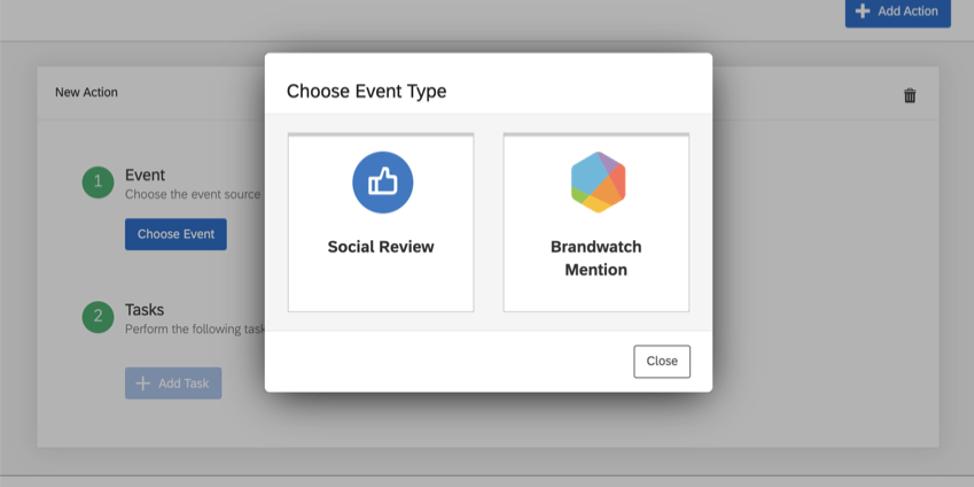 Event Types window