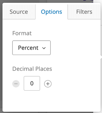 When you click a metric, a menu opens - in that menu, switch to the options tab