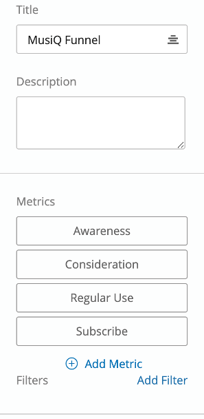 Editing pane with metrics that say awareness, consideration, regular use, subscription, just like the example we saw in the beginning of the page