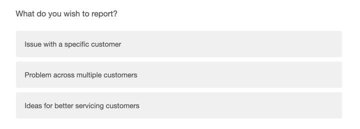 Question just says the word customers instead of having curly brackets