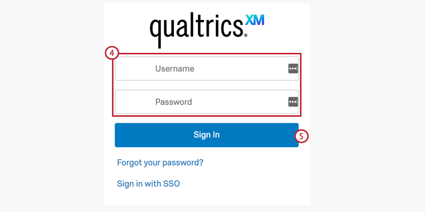 connecting your sfdc and qualtrics accounts. enter your qualtrics credentials on the logic screen