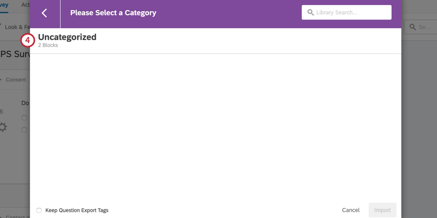 selecting a folder that contains the content you want to copy