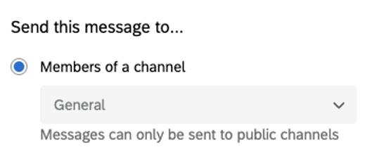 Channel dropdown