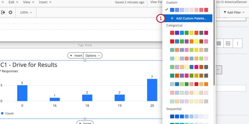 selecting custom palette from the palette picker