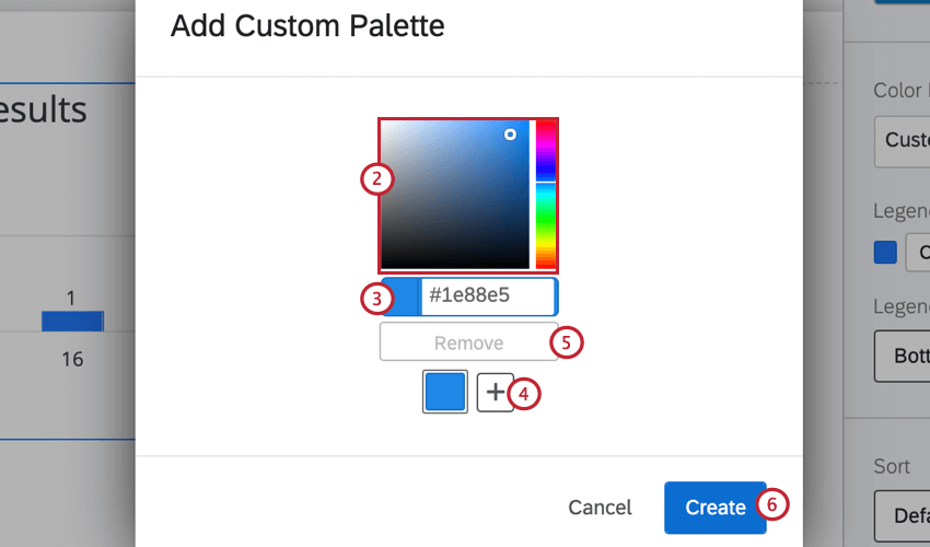 using the color picker to add new colors to a custom palette