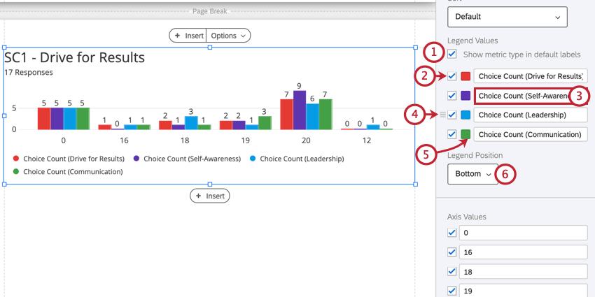 editing a visualization legend