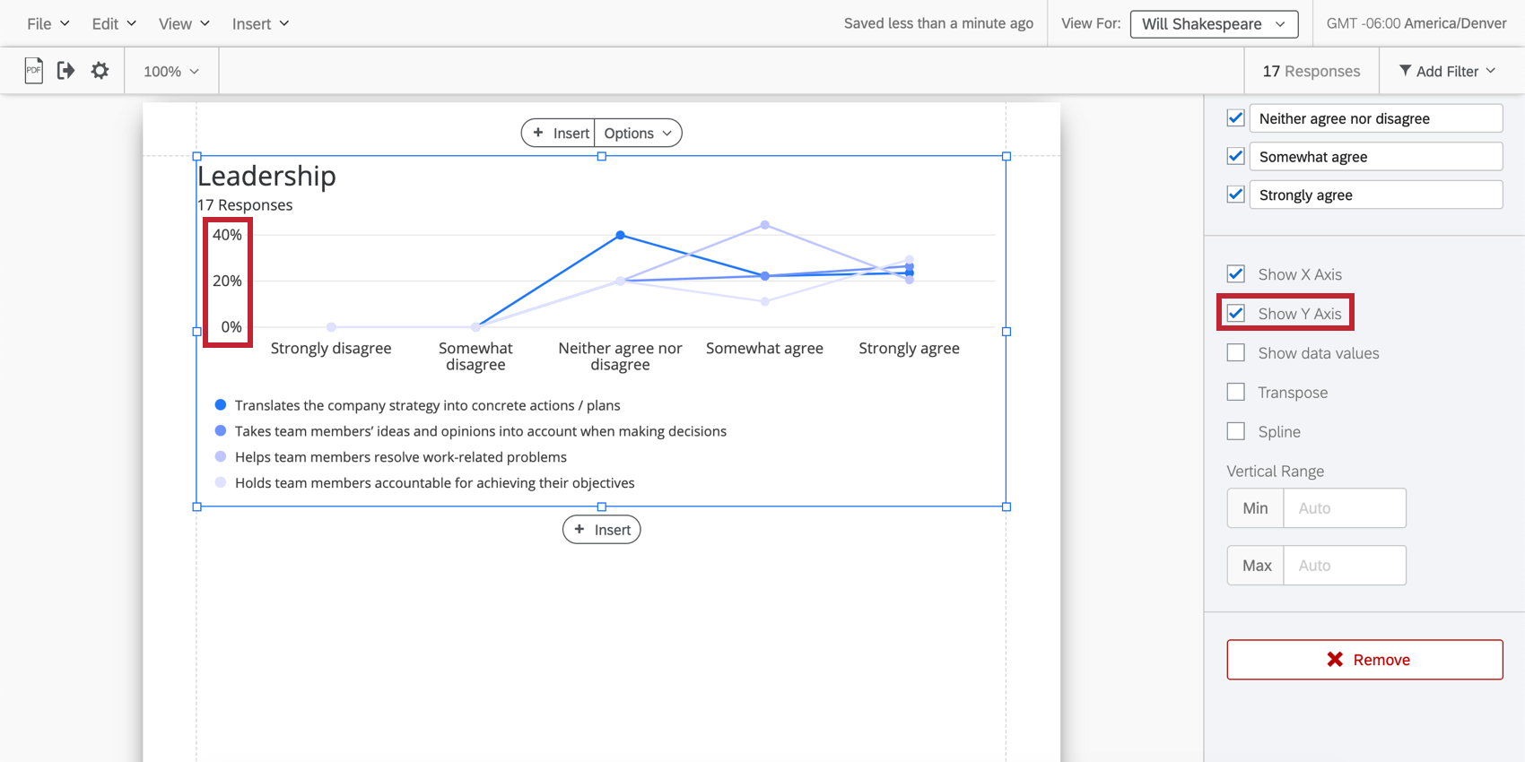 selecting show y axis shows number labels in the left side
