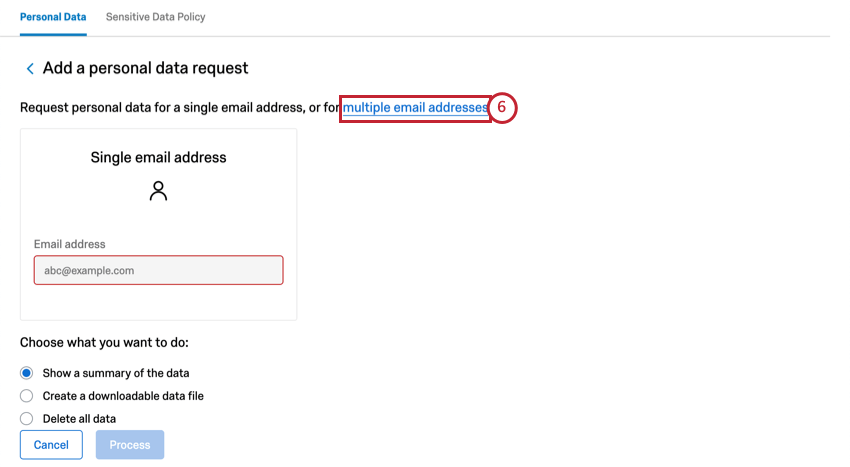 Multiple email addresses
