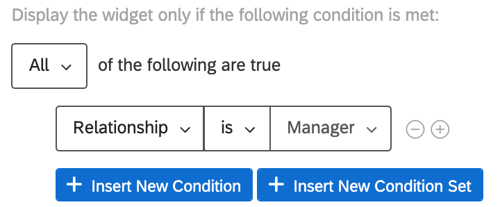 All of the following is true: relationship is manager