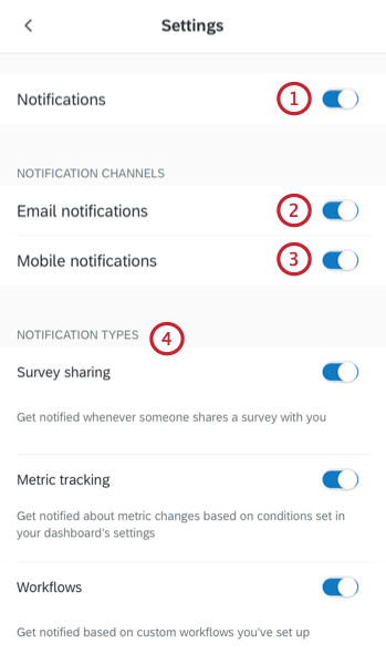 choosing what notifications to receive