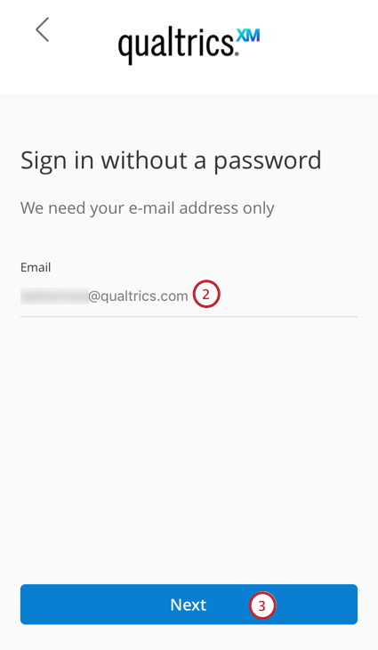 entering an email address to receive a login link