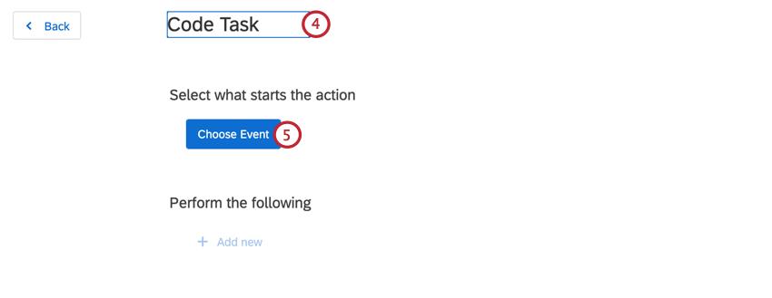 choosing an event