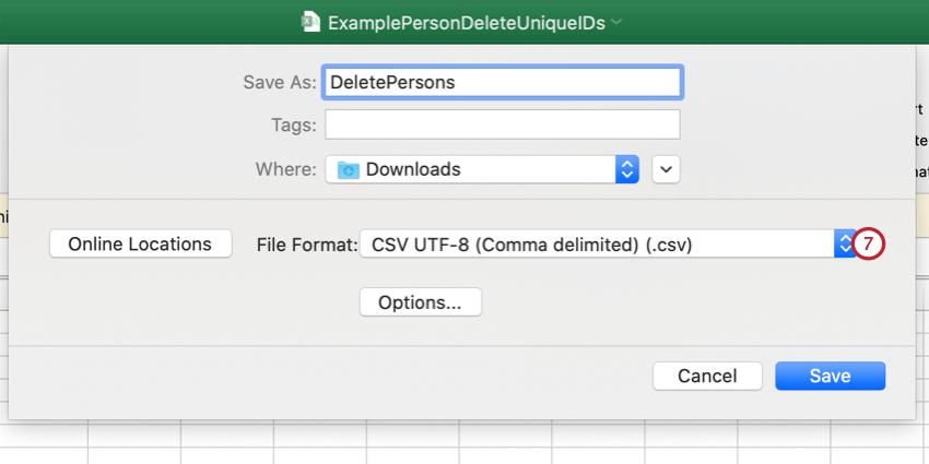 saving the file as a utf-8 csv file