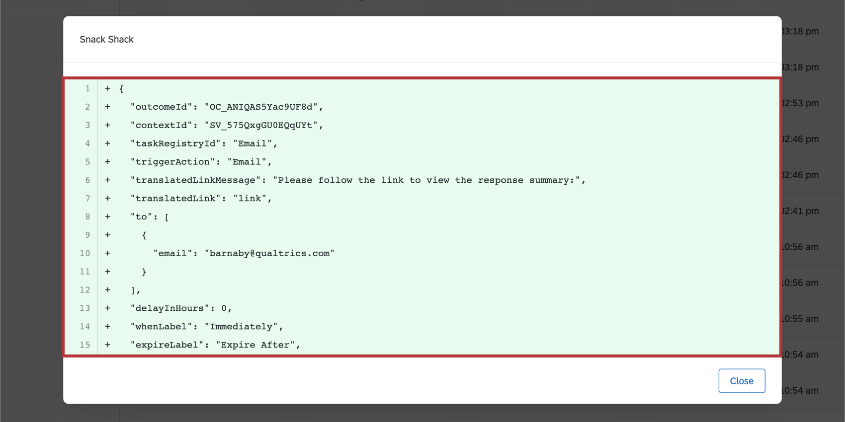 Coded Details in the Audit Log