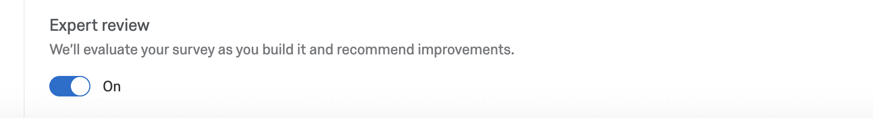 Expert review toggle