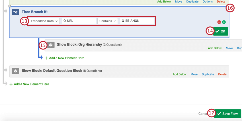 adding a branch for the anonymous link section