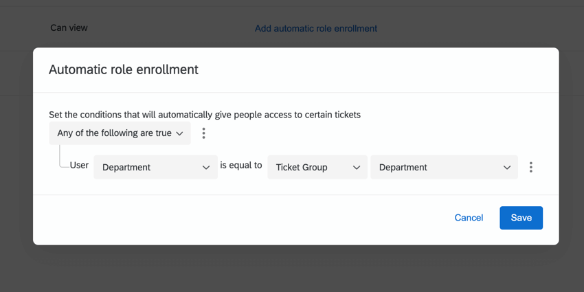 creating a condition to add a user when their department matches' the group's
