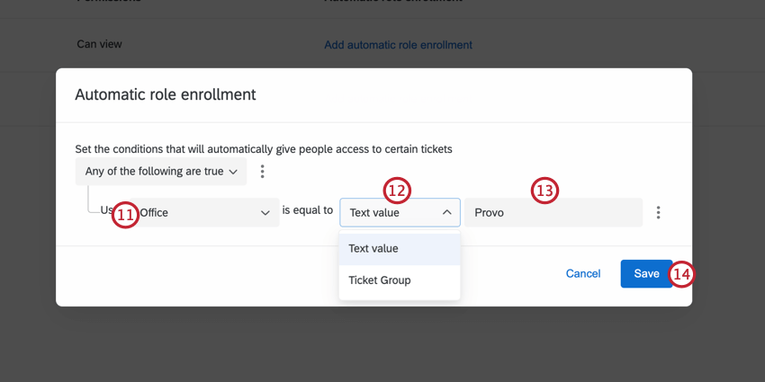 creating a condition to add users to the group