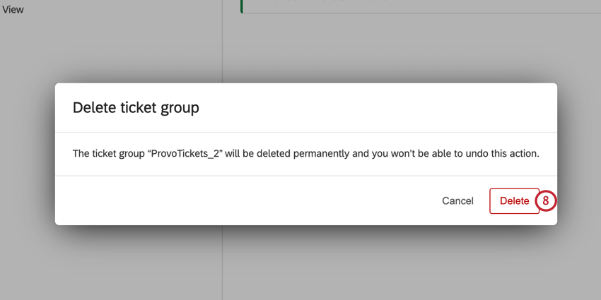 the delete button