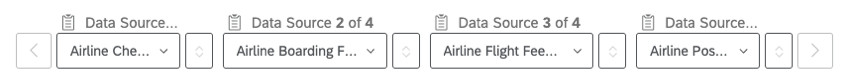 Airline Check-In, Boarding, Flight, and Post-Flight are selected as the sources for this dashboard