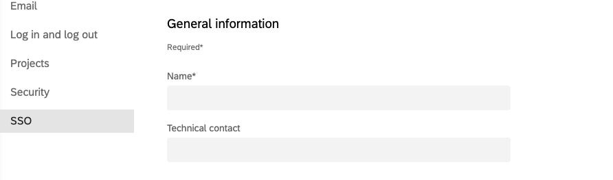 Allgemeine Informationseinstellungen