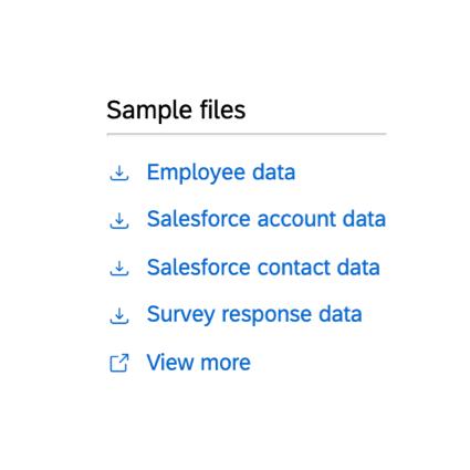 the sample files window