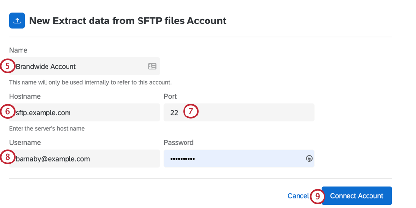 adding a brandwide account for sftp